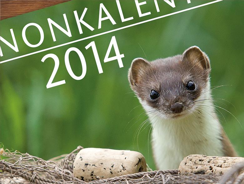 Luonnonkalenteri 2014 kannen lähikuva