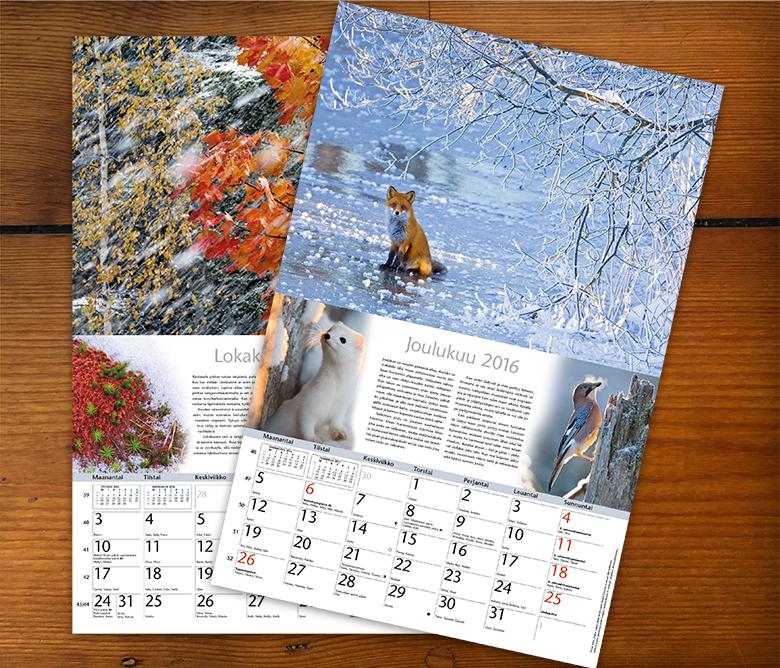 Luonnonkalenteri 16 loka- ja joulukuu