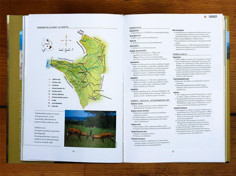 Suuri savanni -kirjan infoaukeama Serengetistä